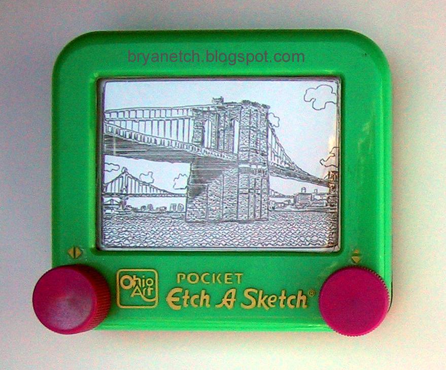 Brooklyn Bridge Etch