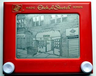 CBGB Etch A Sketch by bryanetch