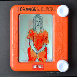 Orange is the New Black Etch a Sketch by bryanetch