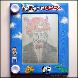 Pee Wee's Etch a Sketch by bryanetch