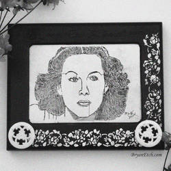 Hedy Lamarr Antique Etch A Sketch by bryanetch