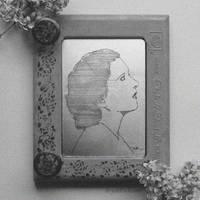 Kay Francis Portrait Antique Etch A Sketch