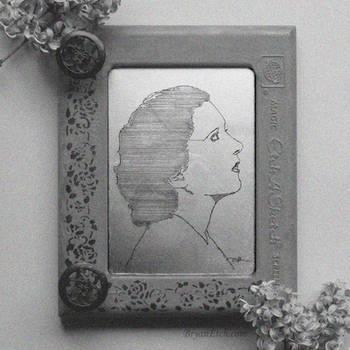 Kay Francis Portrait Antique Etch A Sketch by bryanetch
