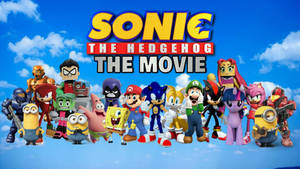 Sonic The Hedgehog The Movie Poster Render