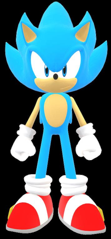 Super Sonic Blue By Sonic29086 On Deviantart