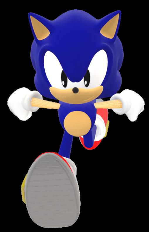 Classic Modern Sonic Running By Sonic29086 On Deviantart