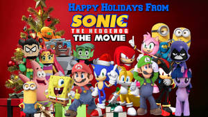 Sonic The Hedgehog The Movie Christmas Poster
