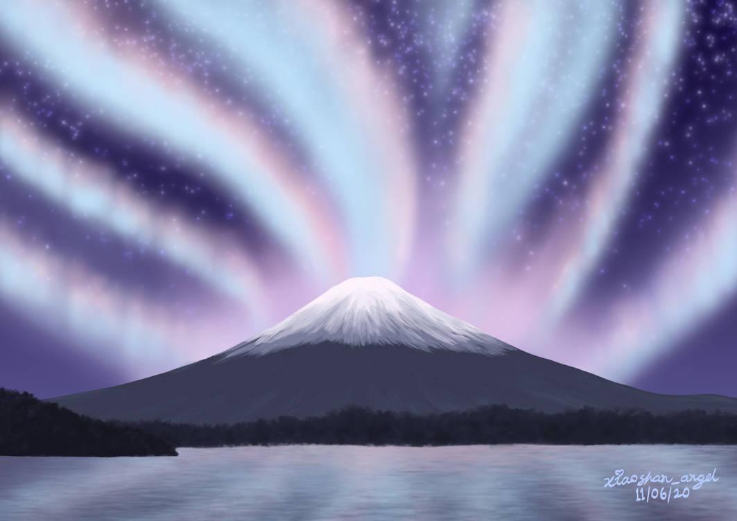 Mount Fuji's Northern Lights