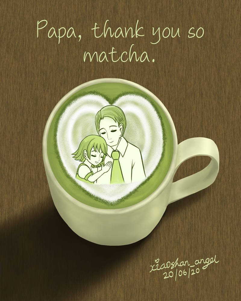 Matcha Latte for Father's Day