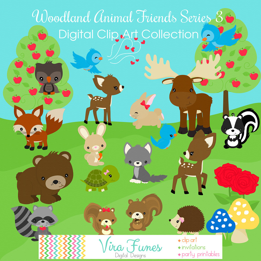 Woodland Animal Friends Series 3 by Dragonflytwist on DeviantArt
