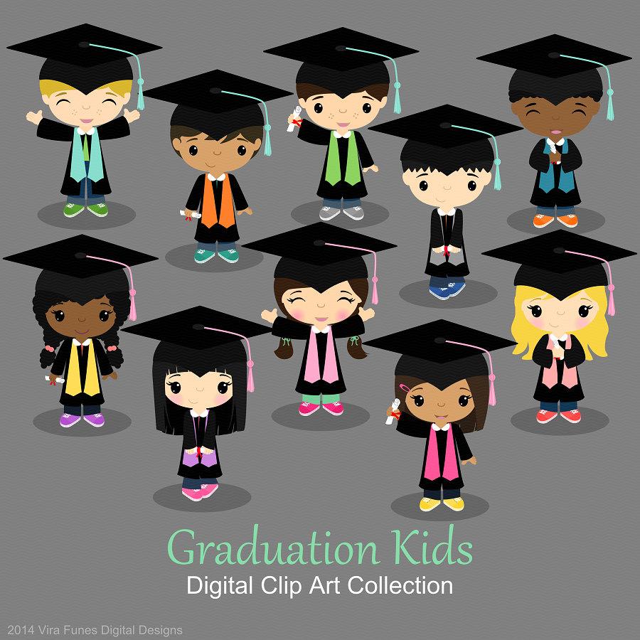 Graduation boys and girls, graduates clip art by ...