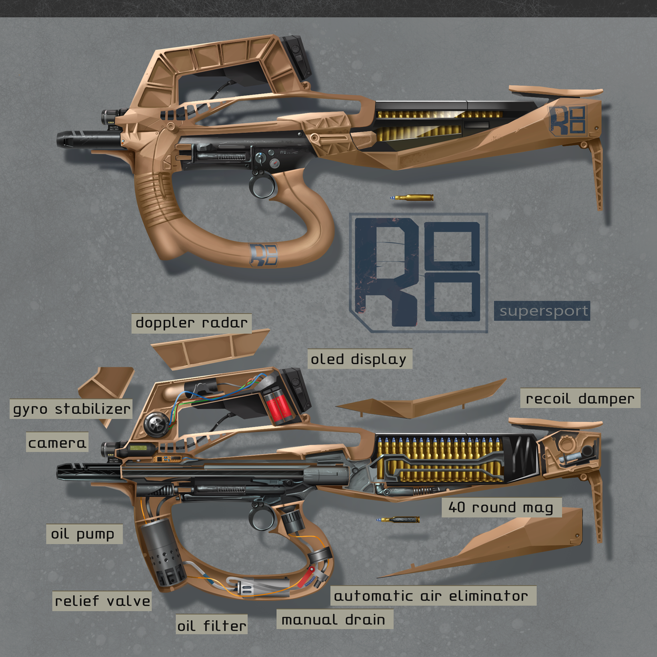 R8 supersport assault rifle by xparament
