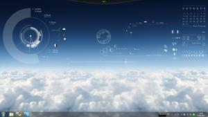 Rainmeter Sky-Pilot Desktop by barsthebest
