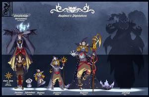 Magi_Digivolution Lineup by ShadowOfSolace