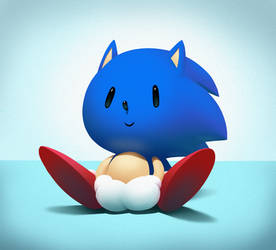 Cutesy Sonic by sonicboom53