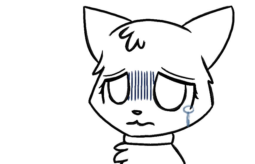 Sad Cat By Ilovelps On DeviantArt