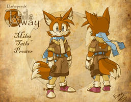Tails Away character: Tails by EvanStanley