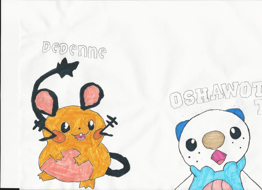Oshawott & Dedenne by emogal96