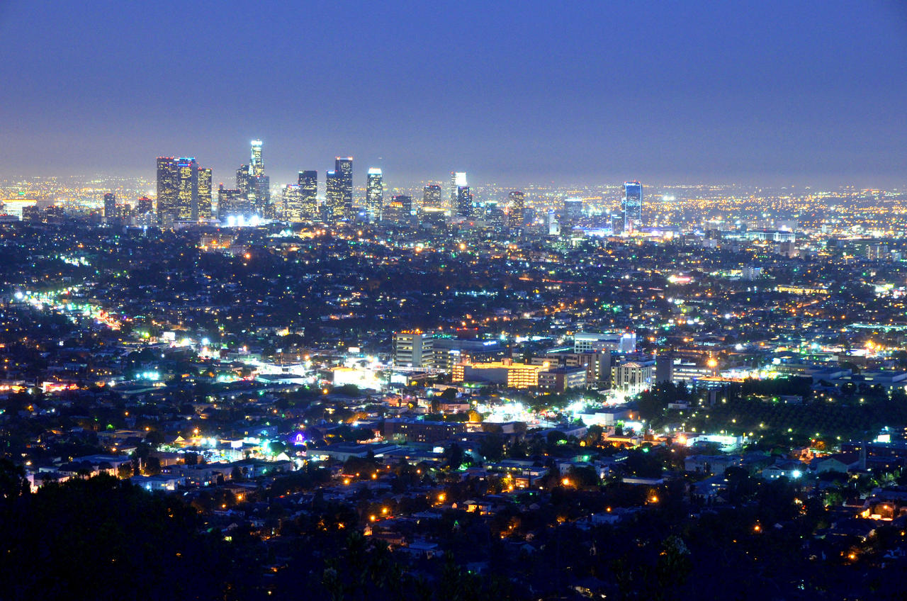 Los Angeles Night View By Esee On Deviantart