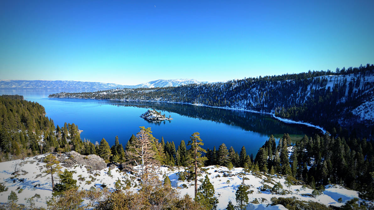 Winter view of lake Tahoe by esee