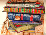 Book Stack by SonyaSpiral