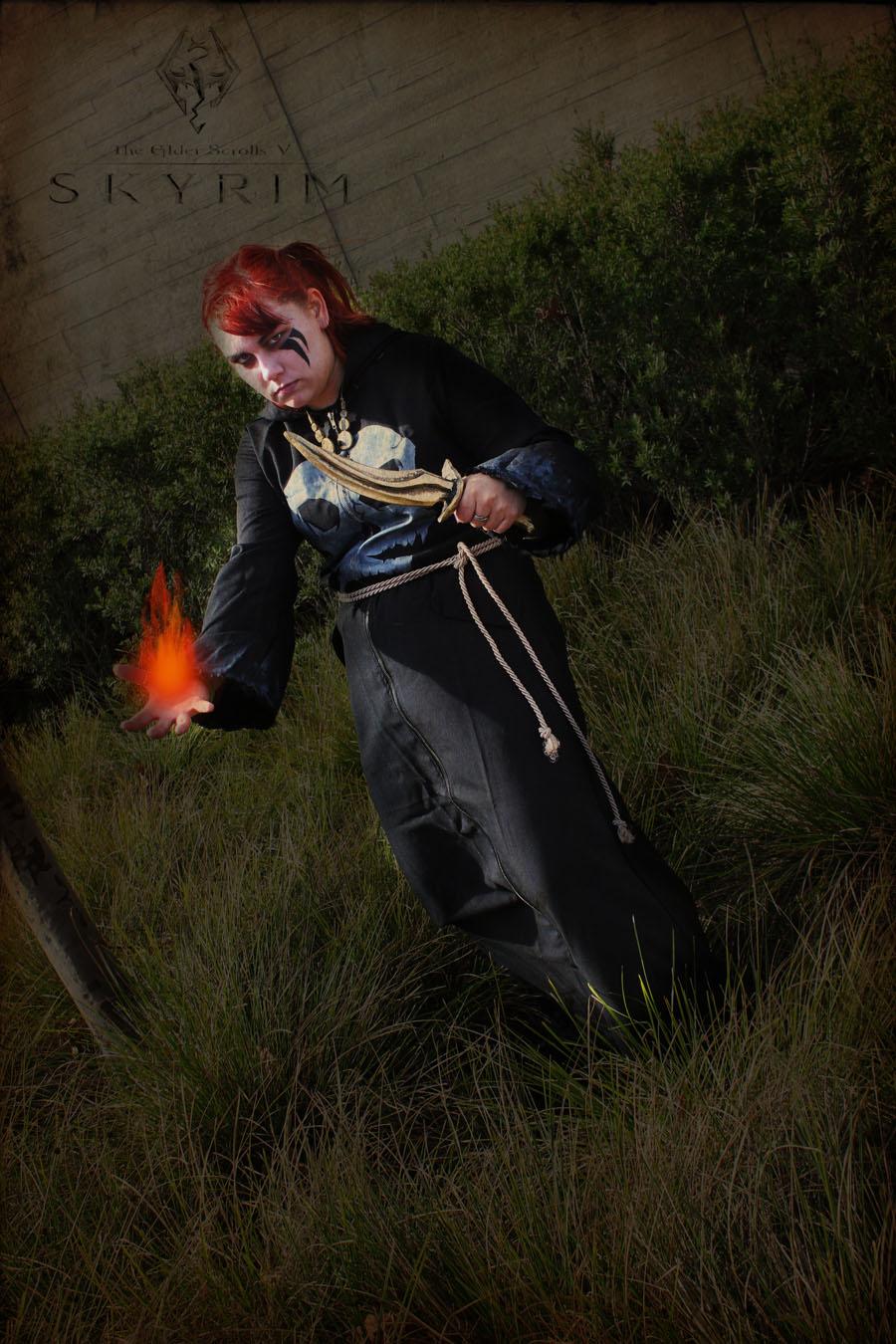 Skyrim - The Necromancer of Flame by Dorchette on DeviantArt