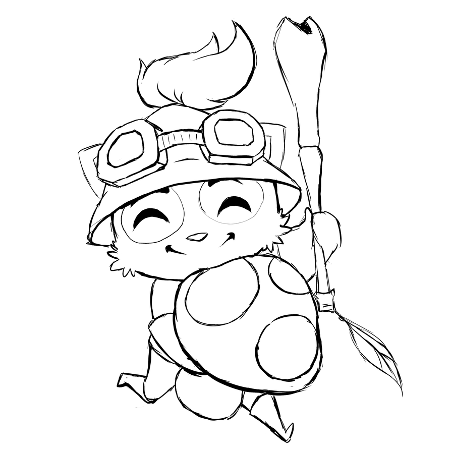league of legends rumble coloring pages | WIP::Teemo LOL by AnaPunda on DeviantArt