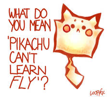 Pikachu Learned Fly by AnaPunda