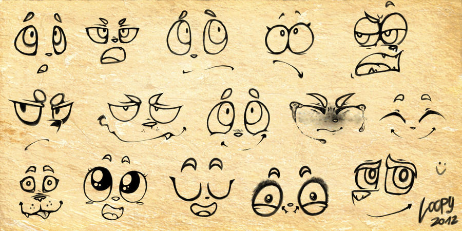 how to draw a cute expression mark