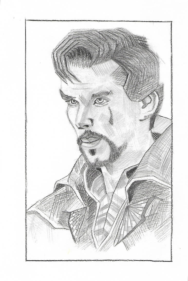Dr strange pencil drawing by ayush627