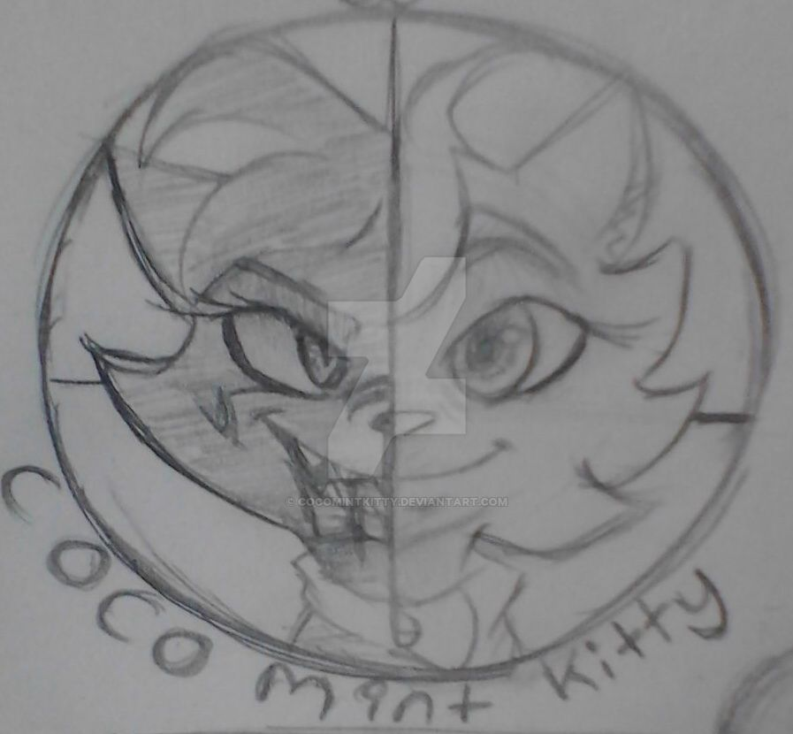My profile pic sketch by me by Cocomintkitty