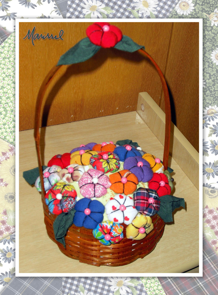 Cesto com flores - peso para porta by marissel