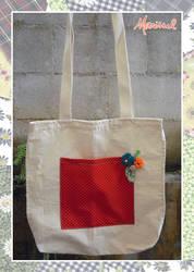 Vermelho com flores (bolsa) by marissel