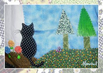 Cat in a blue sky - detail by marissel