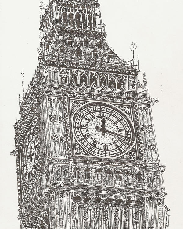 big ben wallpaper drawing - photo #13