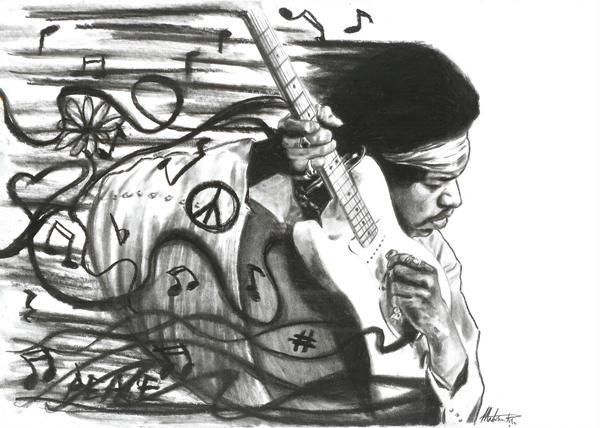Jimi Hendrix by maddrawings