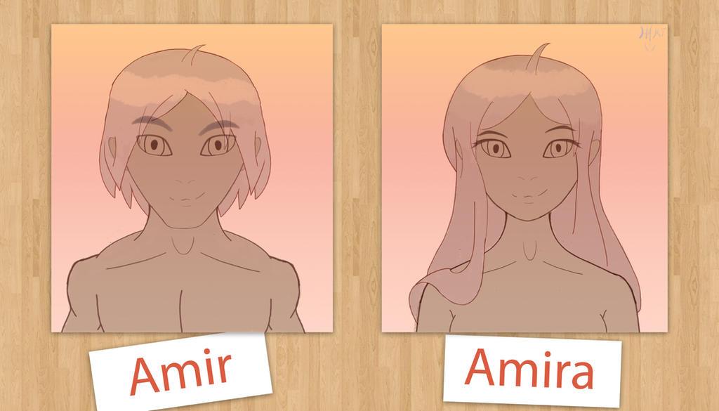 Amir-Amira transformation (100th post) by hartfie212