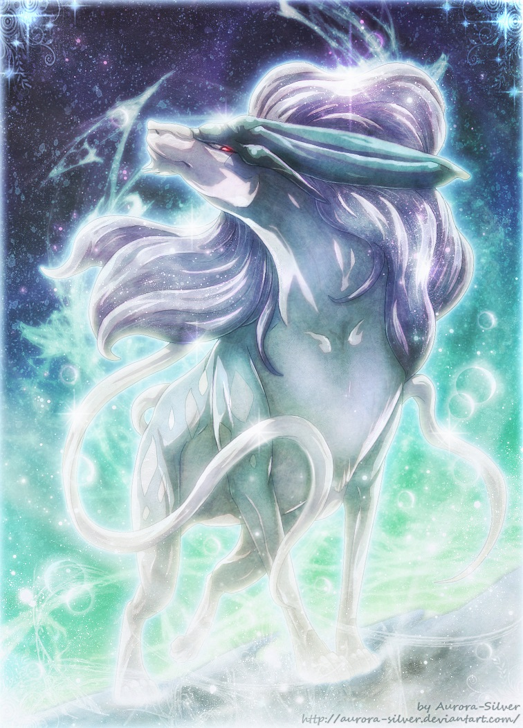 Suicune - Ice Crystal by Aurora-Silver