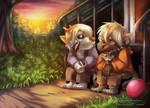 waiting for dad by Aurora-Silver