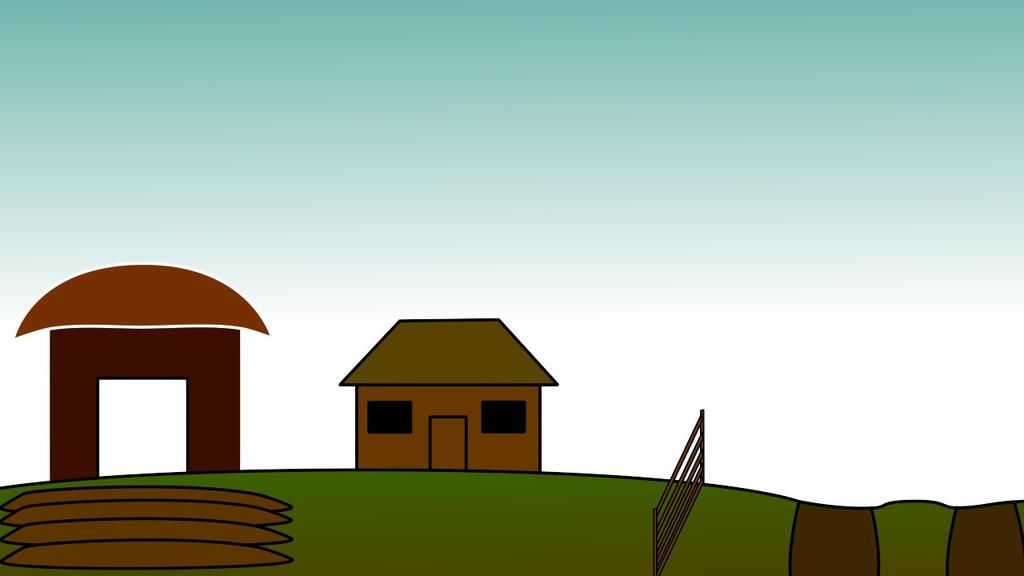 Farm Scene by StrangelyTired