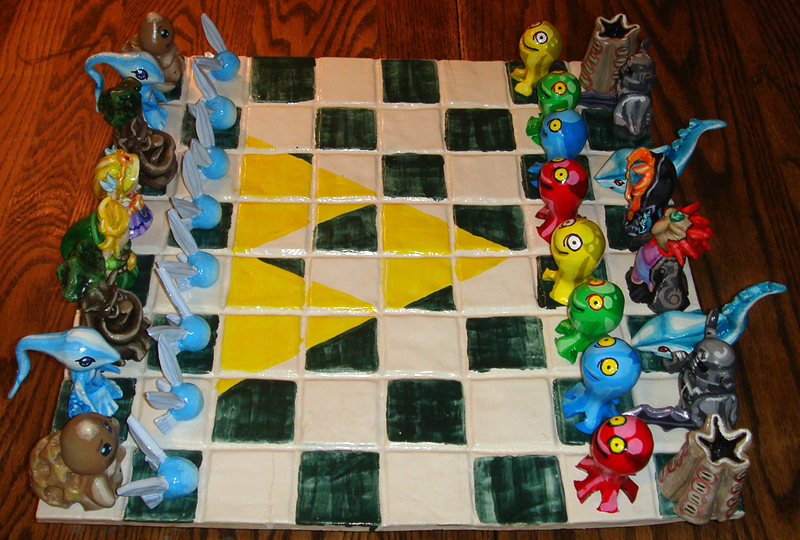 Legend of Zelda - Chess Set 01 by tomo-chi
