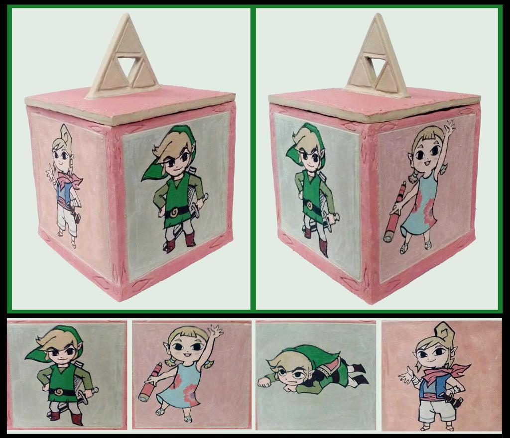 Legend of Zelda WW - Ceramic Box by Tomo-Chi