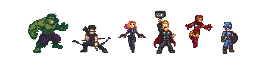 Avengers Pixel Art
