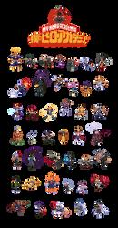 Boku no Hero Academia Pixel Art by wanderingstreet