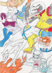 Earthworm jim vs. villains by wildo123
