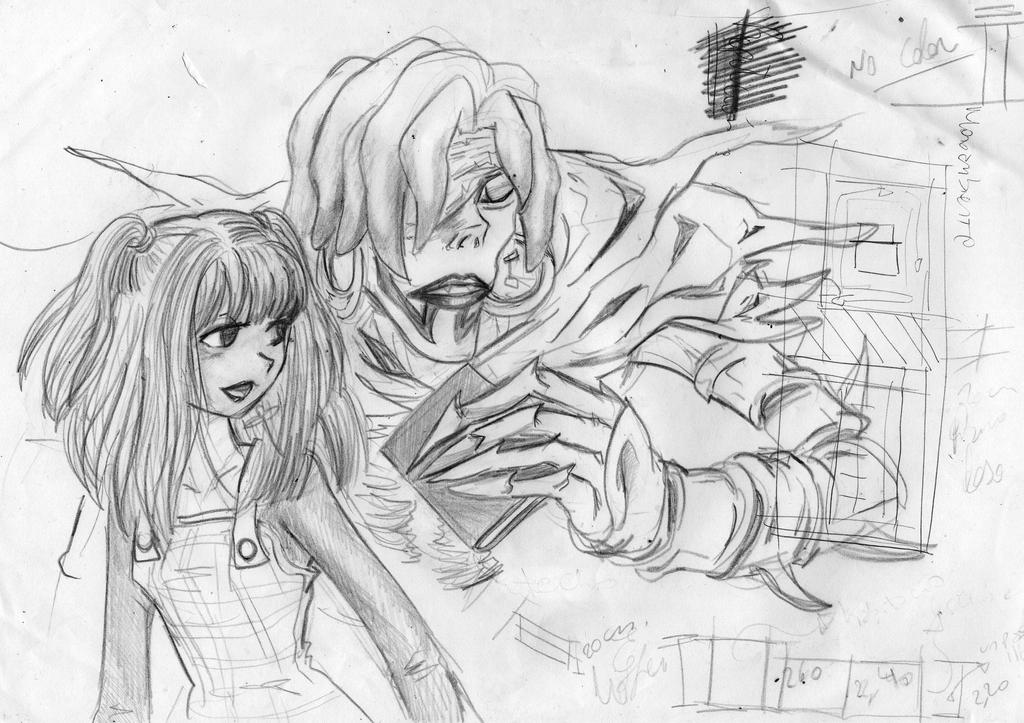 mis dibujos de la shinigami rem death note