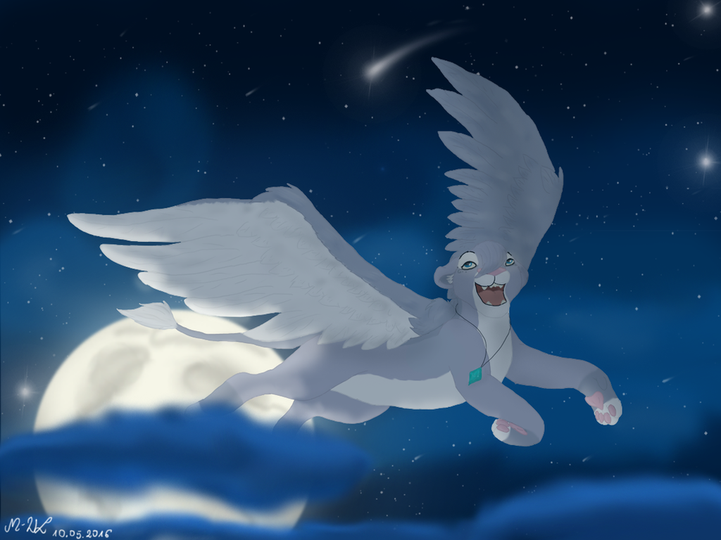 Freedom in the sky by M-WingedLioness