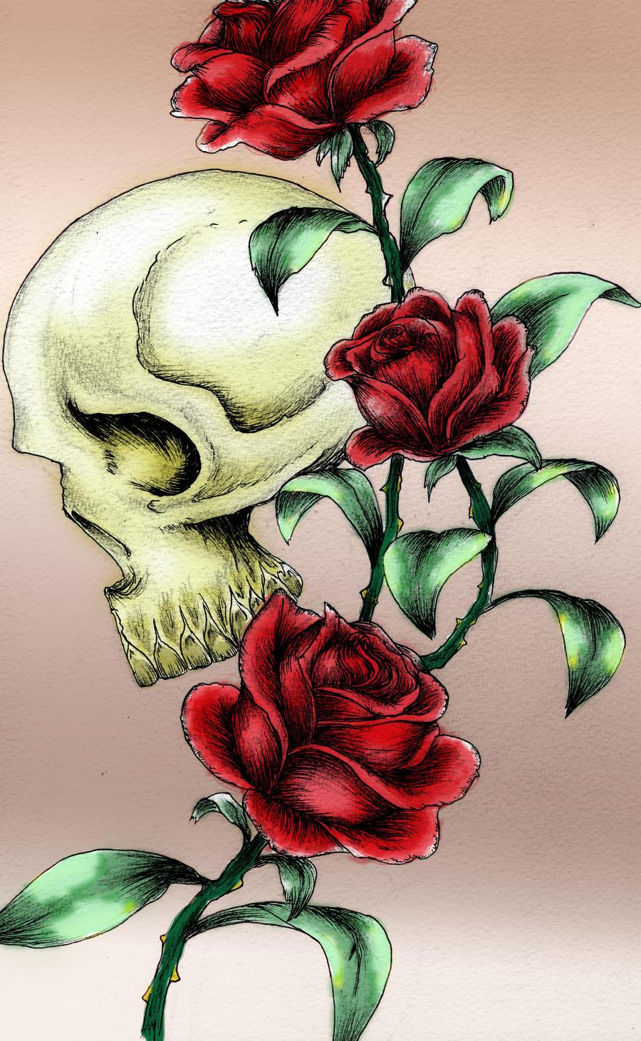 skull tattoo design 2 by kirstynoelledavies on deviantart. Black Bedroom Furniture Sets. Home Design Ideas