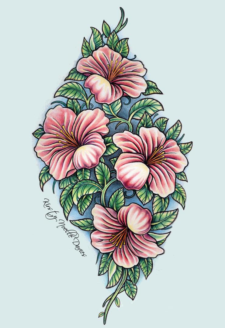 Lily Back Piece Tattoo Design by kirstynoelledavies