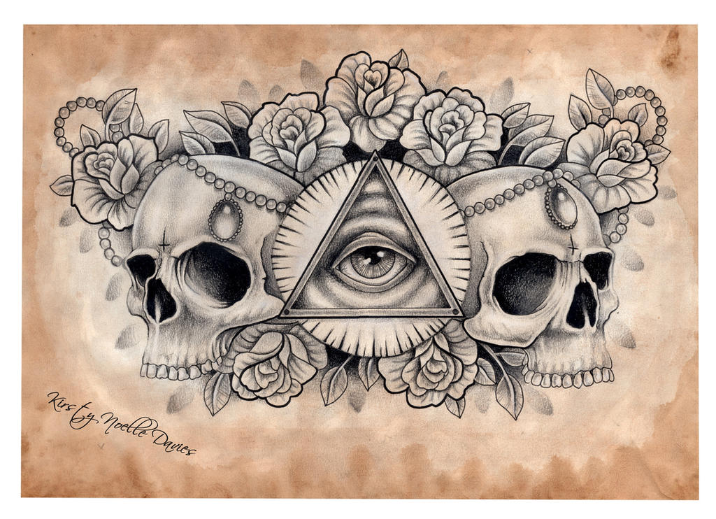 illuminati and skull chest tattoo design scanned by kirstynoelledavies on deviantart. Black Bedroom Furniture Sets. Home Design Ideas